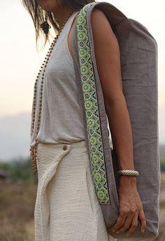 yoga mat bag, corduroy yoga mat bag, yoga mat carrier, gray yoga mat bag, yoga bag, Hmong yoga mat bag embroidery yoga mat bag, gift for mom