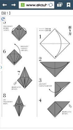 やっっとみつけた!! 福鶴折り!これかな! ( / `・ω・*)/✧かわいいです...|『もう一度質問させていただきます この鶴の折り方教えてください!! 少ないですけど...』への回答の画像1。折り紙,ハンドメイド,図画工作。