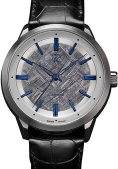Zelos Visionary V-1 Swiss Automatic Meteorite Silver Stainless Steel Grades, Stainless Steel Case, Perfect Timing, Watch Case, Cool Watches, Luxury Branding, Bronze, Silver Watches, Metal