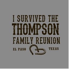 Funny Family Reunion Ranch Style #FamilyReunionTShirt  #Country Add a little country flair to next family reunion. Tiny Little Monster specializes in custom t-shirts to fit your family's style! Contact us and mention pinterest to get FREE SHIPPING!