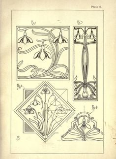 art nouveau drawings - Google Search