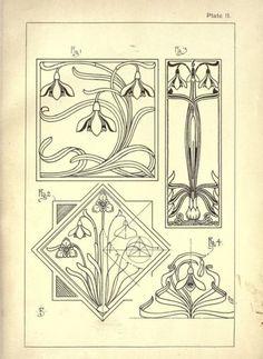 art nouveau drawings - Google Search