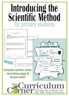 Scientific Method Anchor Chart, Lesson Plan & Recording Page FREE from The Curriculum Corner