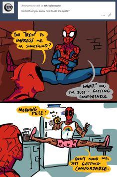 25 Funniest Spider-Man And Deadpool Fanart Memes That Will Make You Laugh Hard Funny Marvel Memes, Dc Memes, Marvel Jokes, Marvel Dc Comics, Funny Comics, Marvel Avengers, Deadpool X Spiderman, Spiderman Art, Deadpool Fan Art