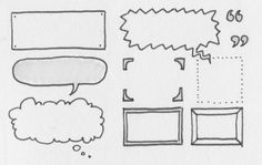 Sketchnotes: Use frames, connectors and lists to organize your notes in quick and easy ways. Visual Note Taking, Visual Thinking, Note Doodles, Thought Bubbles, Sketch Notes, Day Planners, Doodle Art, Doodle Frames, Journal Inspiration