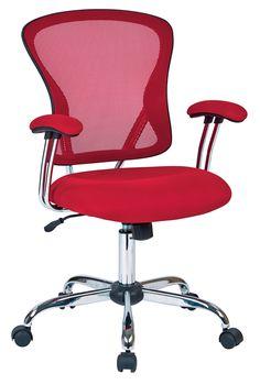Office Star Red Juliana Task Chair