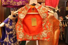 Orange Koti with gota work