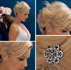 Image Detail for - Wedding Hairstyles Updos with Swarovski Crystal Hair Combs Hair Jewels ...