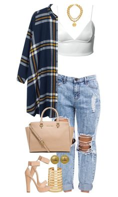 """Untitled #1298"" by power-beauty ❤ liked on Polyvore featuring Dark Pink, Monki, MICHAEL Michael Kors, Forever 21 and Chanel"