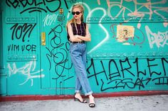 6 Trends You're NOT Too Young For #refinery29  http://www.refinery29.com/71843#slide-7  The Paper-Bag-Waist Pant One important style lesson worth learning is old folks sacrifice their comfort for no one. So, go ahead and do denim a size or two too big, and cinch 'em at the waist for a surprisingly avant-garde look.  Kenzo top....
