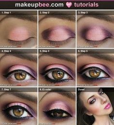 pinks/purples eye makeup tutorial