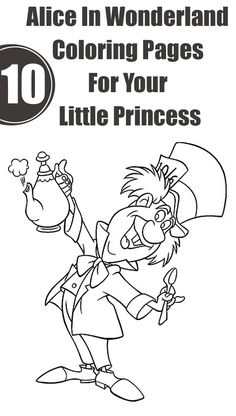 Alice In Wonderland Tea Party Coloring Pages Coloring Coloring Pages