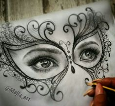 The cool and fun things to draw are of paramount importance and happily, a seed of creativity lies here, click above to feed your imagination. Realistic Pencil Drawings, Dark Art Drawings, Pencil Art Drawings, Art Drawings Sketches, Cool Drawings, Tattoo Drawings, Charcoal Drawings, Skull Girl Tattoo, Eyes Artwork