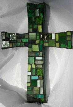 Mosaic Green Cross