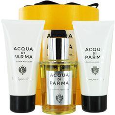 Acqua di Parma assoluta colgne spray, body cream & shower gel  www.fragrancenet.com/acqua-di-parma-perfume-gift-sets/acqua-di-parma/fragrance/gs/en_US/00019#?utm_source=pinterest_medium=social_pc=pinterest