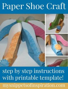 Here's a #paper #shoe #craft #project that is perfect for a #holiday #decoration #table #centerpiece or #gift idea!