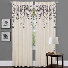 Amazon.com: Lush Decor Flower Drop Curtain Panel, Purple: Home & Kitchen