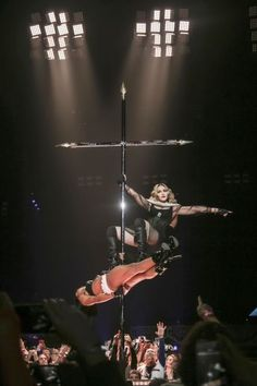 """Rebel Heart Tour   Crucifix pole dancing on """"Holy Water"""""""