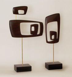 mid century modern abstract sculpture retro danish modern 1960s 1950s