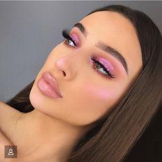 Make-up-Idee Rosa - Prom Makeup Looks Pink Makeup, Cute Makeup, Glam Makeup, Pretty Makeup, Makeup Inspo, Makeup Art, Makeup Inspiration, Hair Makeup, Pink Highlighter Makeup