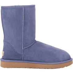 UGG Classic Short II (Pajama Blue) Women's Boots (210 CAD) ❤ liked on Polyvore featuring intimates, hosiery, socks, sweat wicking socks, moisture wicking socks, synthetic socks, water resistant socks and blue slip