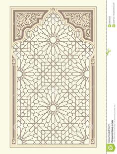 arabic-ornament-background-seamless-pattern-arabian-style-32850320.jpg (988×1300)