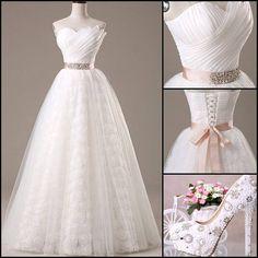 Elegant Beading Ruched A-Line Wedding Dress   Online, Dresswe.Com offer high quality fashion,Price: USD$185.79  http://www.dresswe.com/item/11049106.html?utm_source=facebook.com&utm_medium=DW003&utm_content=141022-1