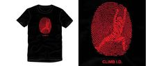 Camiseta Escalada Huella digital