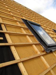 Dachdämmung von außen.