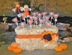 Pumpkin Cake Pops {tutorial} - Cherished Bliss (Candy Cake For Girls) Fall 1st Birthdays, Pumpkin 1st Birthdays, Pumpkin Birthday Parties, Halloween Birthday, Birthday Ideas, Halloween Ribbon, Fall Halloween, 2nd Birthday, Pumpkin Patch Birthday