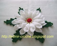 Crochet flower + video tutorial + chart