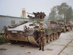Tanks,Me Standing next to a German Army MARDER IFV/APC