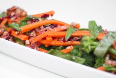 Broccoli Salad with Carrot, Cranberries and Bacon