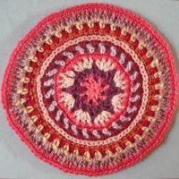 Crochet Mandala Wheel made by Jayne, Sheffield, UK for yarndale.co.uk