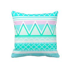 Bright Turquoise Tribal from Zazzle.com