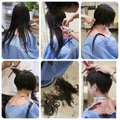Long Hair Cuts, Long Hair Styles, Barber Chair, Short Pixie, Day Work, Shearing, Pixie Hairstyles, Floor, Women