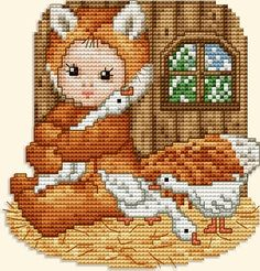 """Ellen Maurer-Stroh """"Fox Baby In The Barnyard"""""""