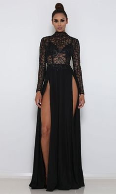 Abyss by Abby 'Amrezy' Gown-Black – Moda Glam Boutique Sexy Dresses, Cute Dresses, Beautiful Dresses, Prom Dresses, Formal Dresses, Long Dresses, Dress Long, Bridesmaid Dresses, Wedding Dresses