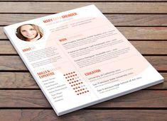 CV créatif Design la Big Shot par ResumeBaker sur Etsy