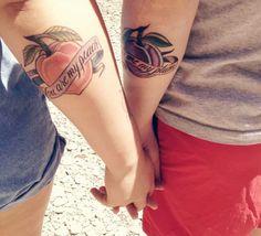 Front Bottoms tattoo. Great couple idea ♡