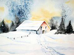 'Wintersonne' von Maria Inhoven bei artflakes.com