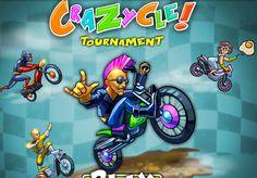 لعبة الدراجة النارية المجنونة لعبة حلوة من العاب سيارات الرائعة جداً علي العاب فلاش ميزو.