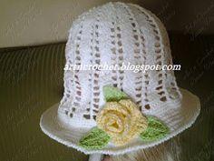 εϊз Art n Crochet εϊз: Mais Chapéu de Flores