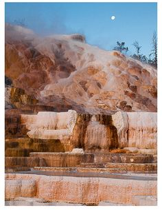 Mammoth Hot Springs, Yellowstone National Park, Wyoming. I had amazing time in a natural hot spring