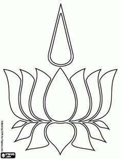 dibujo flor de loto - Buscar con Google
