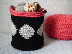 XXL Crochet Basket -  Big Crochet Storage Bin - Tapestry Bucket Basket - Toy Basket - Laundry Hamper