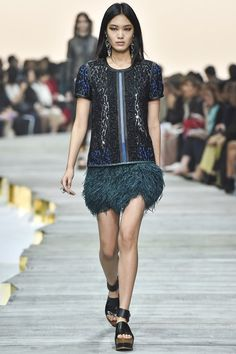 See all the Collection photos from Roberto Cavalli Spring/Summer 2015 Ready-To-Wear now on British Vogue Lux Fashion, Fashion Line, Spring Fashion, Fashion Show, Milan Fashion, Fashion Weeks, Roberto Cavalli, Josephine Le Tutour, Cavalli Dress