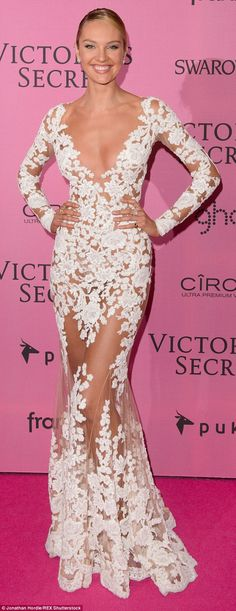 Candice Swanepoel, pictured at the Victoria's Secret show afterparty in December, has revealed her secrets for achieving fresh-looking, blemish-free skin - and her tips are surprisingly simple