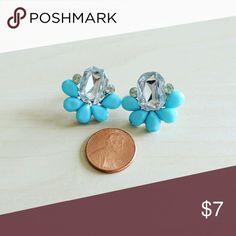 Blue stone statement Earrings Blue stone statement Earrings Jewelry Earrings