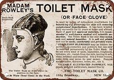 1900 Madam Rowley's Toilet Mask Vintage Look Reproduction Metal Sign Wall-Color http://www.amazon.com/dp/B00PCKECHA/ref=cm_sw_r_pi_dp_XDMavb0N91BCQ